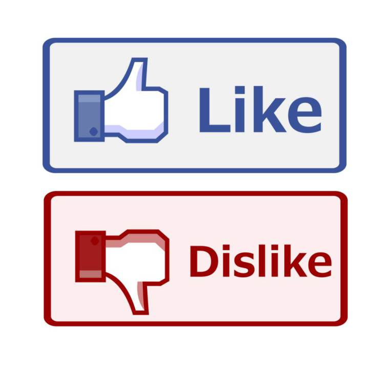 like, dislike, facebook, интернет